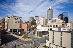 Skyline of Indianapolis Indiana Royalty Free Stock Photo