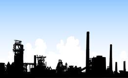 Skyline industrial ilustração stock