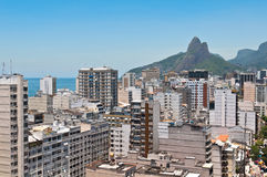 Skyline of Ipanema District in Rio de Janeiro. From the Cantagalo Lookout Point Stock Photo