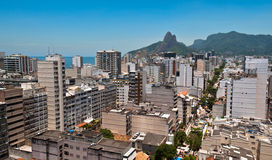 Skyline of Ipanema District in Rio de Janeiro. From the Cantagalo Lookout Point Royalty Free Stock Photo
