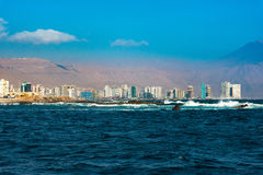Skyline of Iquique Stock Images
