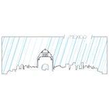 Skyline isolada de Cidade do México ilustração stock