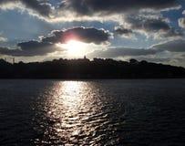 Skyline of IStambul. Estambul Turquia, turkey. Skyline of Istambul at sunset fron the sea stock photos