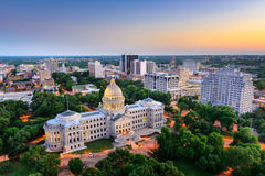 Skyline Jackson-, Mississippi Stockbilder
