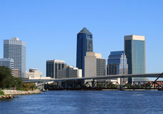 Skyline Jacksonville-Florida Stockfotos