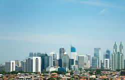 Skyline of Jakarta Royalty Free Stock Photo