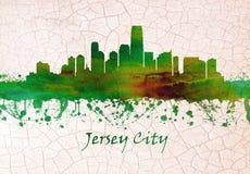 Skyline Jersey Citys New-Jersey lizenzfreie abbildung
