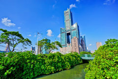 Skyline in Kaohsiung royalty free stock photos