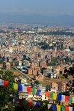 Skyline of the Kathmandu Valley Stock Photography