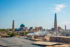 Skyline of Khiva, Uzbekistan Stock Photos