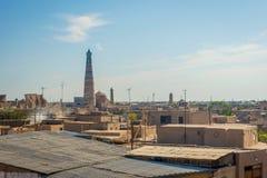 Skyline of Khiva, Uzbekistan Royalty Free Stock Photo