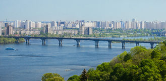 Skyline of Kiev Stock Photography