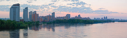 Skyline of Kiev Stock Photos