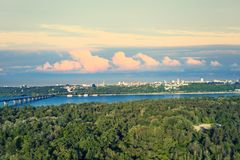 Aerial view of the Kiev city royalty free stock image