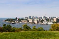 Skyline of Kingston, Ontario. Skyline of Kingston on Lake Ontario royalty free stock photography