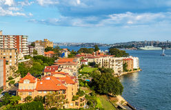 Skyline of Kirribilli at sunset, Sydney Royalty Free Stock Photos