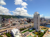 Skyline of Kobe, Japan Royalty Free Stock Photography