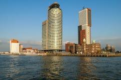 Skyline Kop van Zuid, Rotterdam, Nederland Royalty-vrije Stock Fotografie