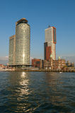 Skyline Kop van Zuid, Rotterdam, Paesi Bassi Fotografia Stock