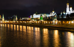 Skyline with Kremlin embankment in Moscow Stock Images