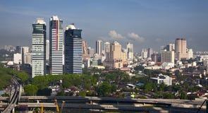 Skyline of Kuala Lumpur Royalty Free Stock Images