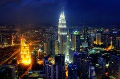 Skyline of Kuala Lumpur Stock Photos