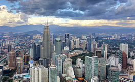Skyline Kuala Lumpur, Malaysia Lizenzfreies Stockbild