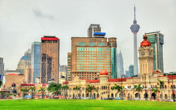 Skyline of Kuala Lumpur from Merdeka Square Royalty Free Stock Photography