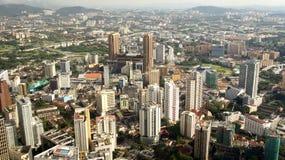 Skyline Kuala Lumpur `s des Geschäftsgebiets Stockfotos