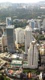 Skyline Kuala Lumpur `s des Zentralebezirkes Stockbild