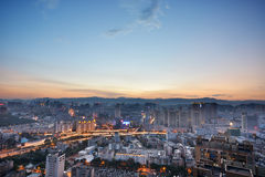 Skyline of Kunming Stock Photography