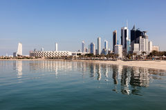 Skyline of Kuwait City. Middle East Royalty Free Stock Images