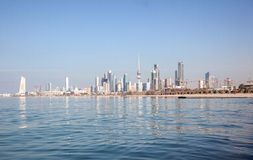 Skyline of Kuwait City. Middle East Royalty Free Stock Photos