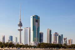 Skyline of Kuwait Downtown Stock Images