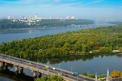 Skyline of Kyiv, Ukraine Royalty Free Stock Image