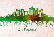 La Defense skyline vector illustration
