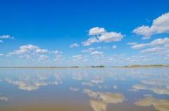 Skyline (landline)of wetland Stock Images