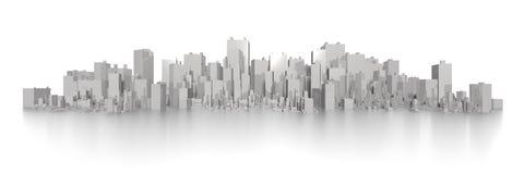 Skyline larga grande Fotos de Stock Royalty Free