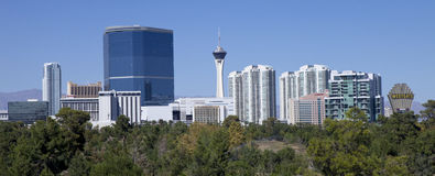Skyline of Las Vegas, Nevada Stock Photo