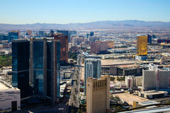 Skyline of Las Vegas, NV. Royalty Free Stock Images