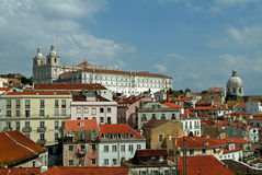 Skyline of Lisbon Royalty Free Stock Photo
