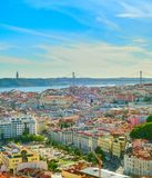 Skyline of Lisbon old town royalty free stock images