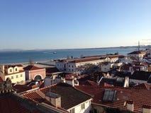 The skyline of Lisbon Portugal Stock Photos