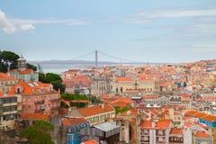 Skyline of  Lisbon, Portugal Royalty Free Stock Photos