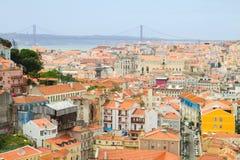 Skyline of  Lisbon, Portugal Royalty Free Stock Photography