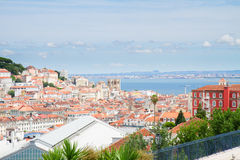 Skyline of  Lisbon, Portugal Royalty Free Stock Images