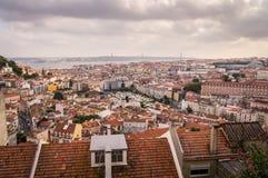 Skyline Lissabons, Portugal stockbild