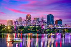 Skyline Little Rocks Arkansas Stockfotografie
