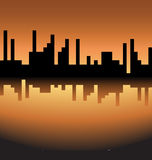 Skyline logo Royalty Free Stock Image