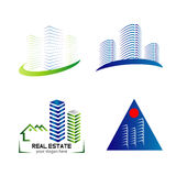 Skyline logo set template design Royalty Free Stock Photography